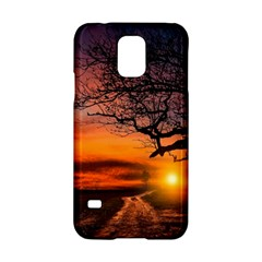 Lonely Tree Sunset Wallpaper Samsung Galaxy S5 Hardshell Case  by Alisyart