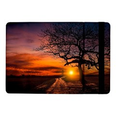 Lonely Tree Sunset Wallpaper Samsung Galaxy Tab Pro 10.1  Flip Case