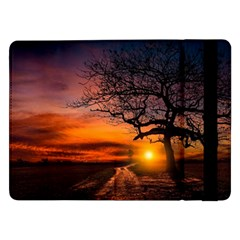 Lonely Tree Sunset Wallpaper Samsung Galaxy Tab Pro 12 2  Flip Case