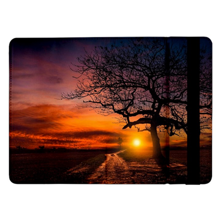 Lonely Tree Sunset Wallpaper Samsung Galaxy Tab Pro 12.2  Flip Case