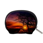Lonely Tree Sunset Wallpaper Accessory Pouch (Small) Back