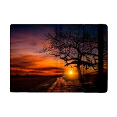 Lonely Tree Sunset Wallpaper iPad Mini 2 Flip Cases
