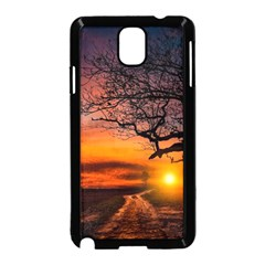 Lonely Tree Sunset Wallpaper Samsung Galaxy Note 3 Neo Hardshell Case (Black)