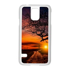 Lonely Tree Sunset Wallpaper Samsung Galaxy S5 Case (white)
