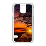 Lonely Tree Sunset Wallpaper Samsung Galaxy S5 Case (White) Front