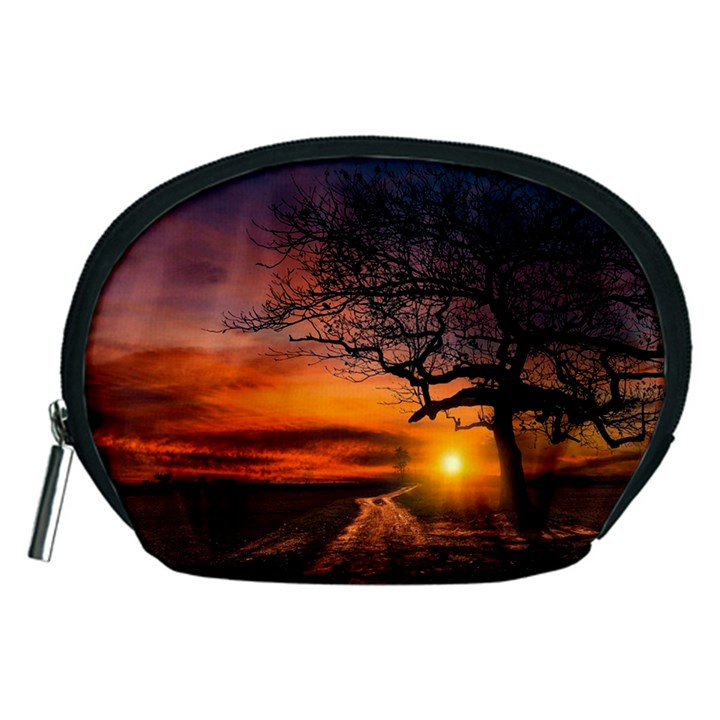 Lonely Tree Sunset Wallpaper Accessory Pouch (Medium)