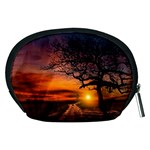 Lonely Tree Sunset Wallpaper Accessory Pouch (Medium) Back