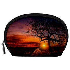 Lonely Tree Sunset Wallpaper Accessory Pouch (large)