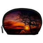 Lonely Tree Sunset Wallpaper Accessory Pouch (Large) Front