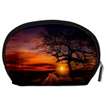 Lonely Tree Sunset Wallpaper Accessory Pouch (Large) Back