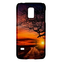 Lonely Tree Sunset Wallpaper Samsung Galaxy S5 Mini Hardshell Case  by Alisyart
