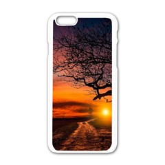 Lonely Tree Sunset Wallpaper Apple Iphone 6/6s White Enamel Case