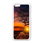 Lonely Tree Sunset Wallpaper Apple iPhone 6/6S White Enamel Case Front