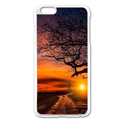 Lonely Tree Sunset Wallpaper Apple iPhone 6 Plus/6S Plus Enamel White Case