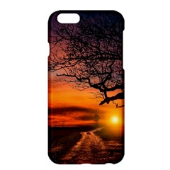 Lonely Tree Sunset Wallpaper Apple iPhone 6 Plus/6S Plus Hardshell Case