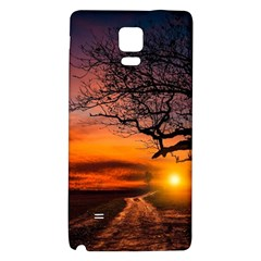 Lonely Tree Sunset Wallpaper Samsung Note 4 Hardshell Back Case by Alisyart