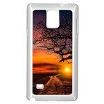 Lonely Tree Sunset Wallpaper Samsung Galaxy Note 4 Case (White) Front