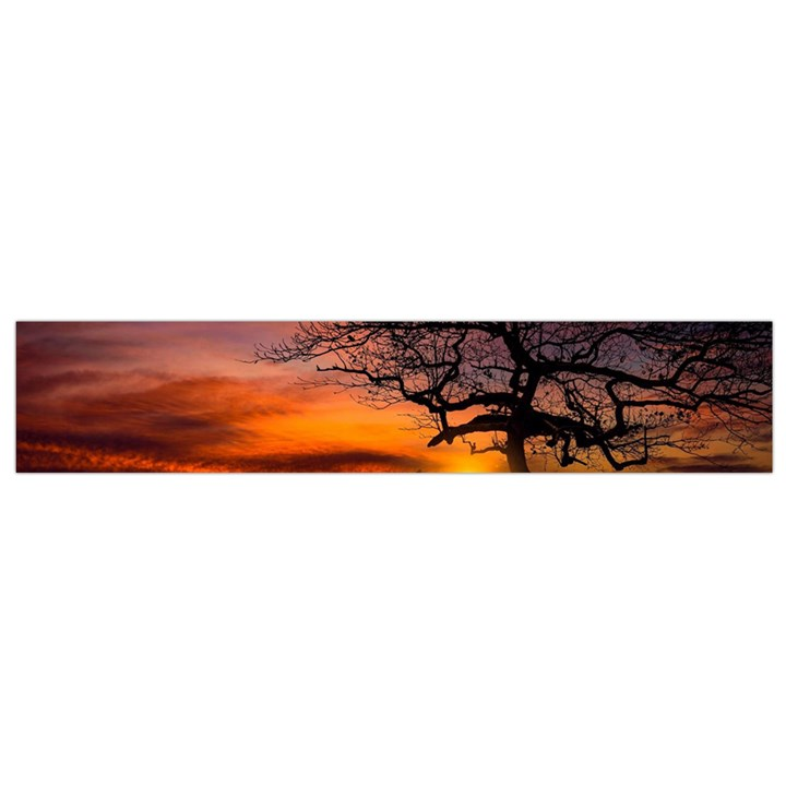 Lonely Tree Sunset Wallpaper Small Flano Scarf