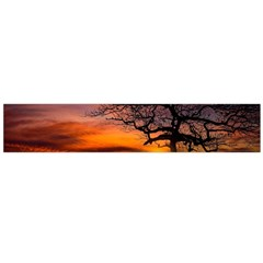 Lonely Tree Sunset Wallpaper Large Flano Scarf