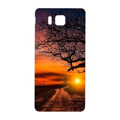 Lonely Tree Sunset Wallpaper Samsung Galaxy Alpha Hardshell Back Case by Alisyart