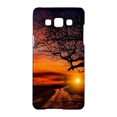 Lonely Tree Sunset Wallpaper Samsung Galaxy A5 Hardshell Case