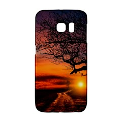 Lonely Tree Sunset Wallpaper Samsung Galaxy S6 Edge Hardshell Case