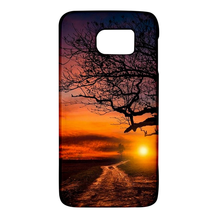Lonely Tree Sunset Wallpaper Samsung Galaxy S6 Hardshell Case