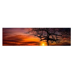 Lonely Tree Sunset Wallpaper Satin Scarf (Oblong)