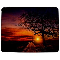 Lonely Tree Sunset Wallpaper Jigsaw Puzzle Photo Stand (Rectangular)