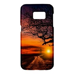 Lonely Tree Sunset Wallpaper Samsung Galaxy S7 Hardshell Case  by Alisyart