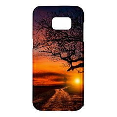 Lonely Tree Sunset Wallpaper Samsung Galaxy S7 Edge Hardshell Case