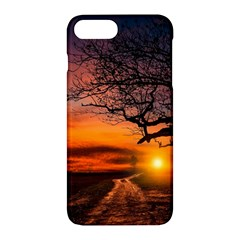 Lonely Tree Sunset Wallpaper Apple iPhone 7 Plus Hardshell Case