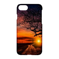 Lonely Tree Sunset Wallpaper Apple iPhone 7 Hardshell Case