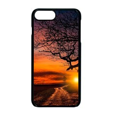 Lonely Tree Sunset Wallpaper Apple iPhone 7 Plus Seamless Case (Black)