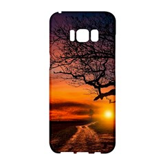 Lonely Tree Sunset Wallpaper Samsung Galaxy S8 Hardshell Case