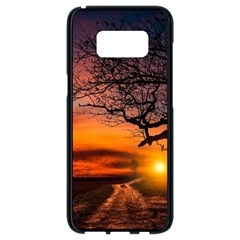 Lonely Tree Sunset Wallpaper Samsung Galaxy S8 Black Seamless Case by Alisyart