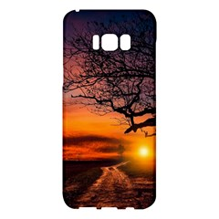 Lonely Tree Sunset Wallpaper Samsung Galaxy S8 Plus Hardshell Case