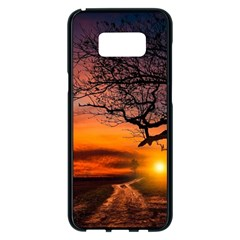 Lonely Tree Sunset Wallpaper Samsung Galaxy S8 Plus Black Seamless Case by Alisyart