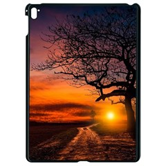 Lonely Tree Sunset Wallpaper Apple iPad Pro 9.7   Black Seamless Case