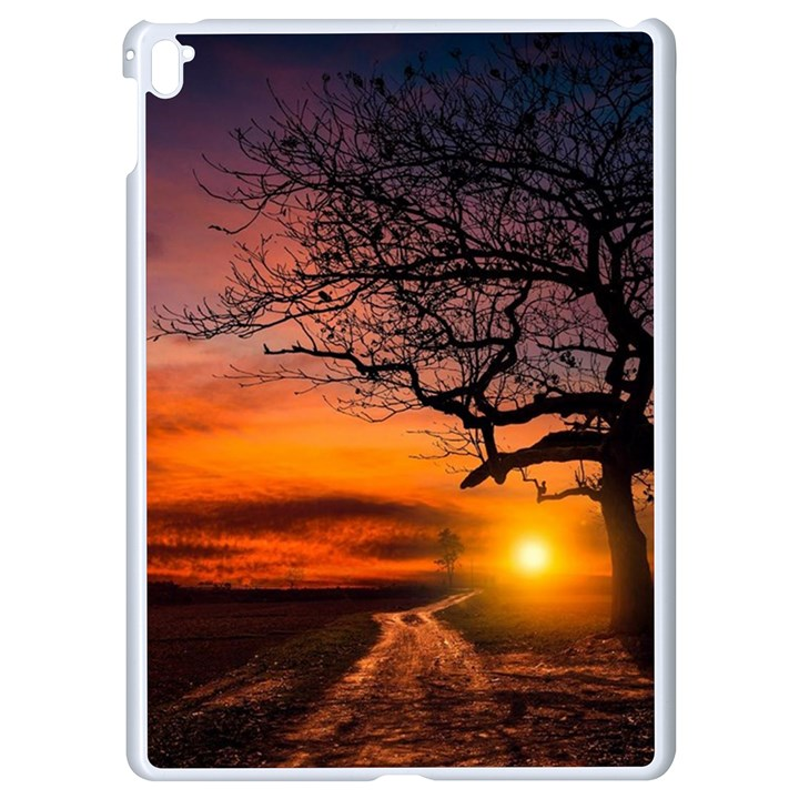 Lonely Tree Sunset Wallpaper Apple iPad Pro 9.7   White Seamless Case
