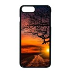 Lonely Tree Sunset Wallpaper Apple iPhone 8 Plus Seamless Case (Black) Front