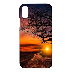Lonely Tree Sunset Wallpaper Apple Iphone X Hardshell Case