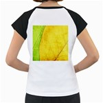 Green Yellow Leaf Texture Leaves Women s Cap Sleeve T Back