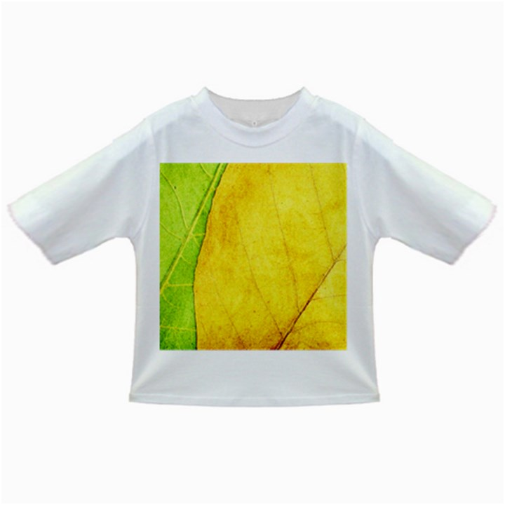 Green Yellow Leaf Texture Leaves Infant/Toddler T-Shirts