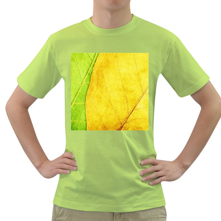 Green Yellow Leaf Texture Leaves Green T-Shirt