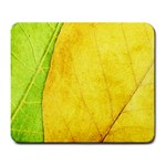 Green Yellow Leaf Texture Leaves Large Mousepads Front