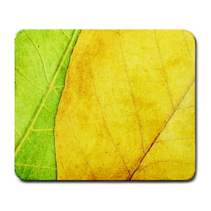 Green Yellow Leaf Texture Leaves Large Mousepads