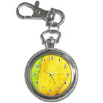 Green Yellow Leaf Texture Leaves Key Chain Watches Front