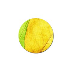 Green Yellow Leaf Texture Leaves Golf Ball Marker (10 Pack)
