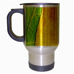 Green Yellow Leaf Texture Leaves Travel Mug (silver Gray)